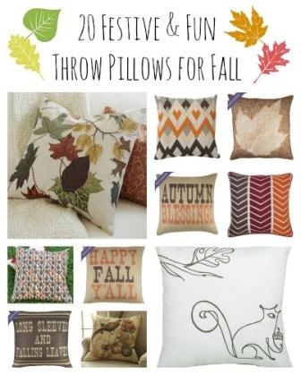 20 Festive Throw Pillows for Fall