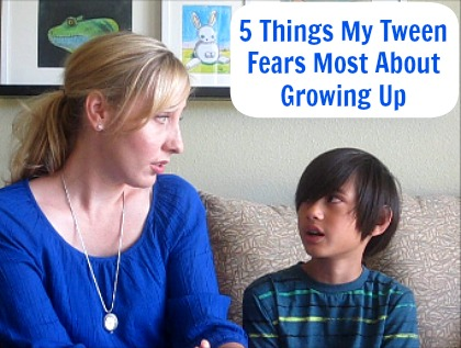 5 Things My Tween Fears About Growing Up Snapshot