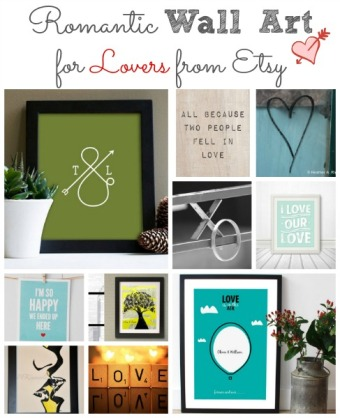 Romantic Wall Art for Lovers From Etsy