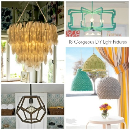 18 Gorgeous DIY Light Fixtures - Header