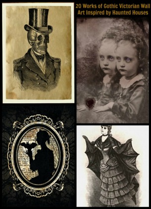 20 Works of Gothic Victorian Wall Art Inspired by Haunted Houses - Pin