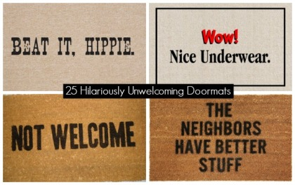 25 Hilariously Unwelcoming Doormats cover