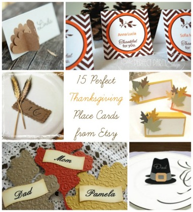 15 Perfect Thanksgiving Place Cards from Etsy