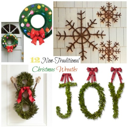 12 Non-Traditional Christmas Wreaths - header