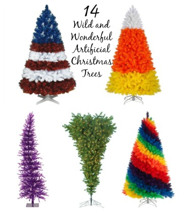 14 Wild and Wonderful Artificial Christmas Trees