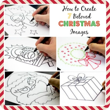 How to draw christmas images